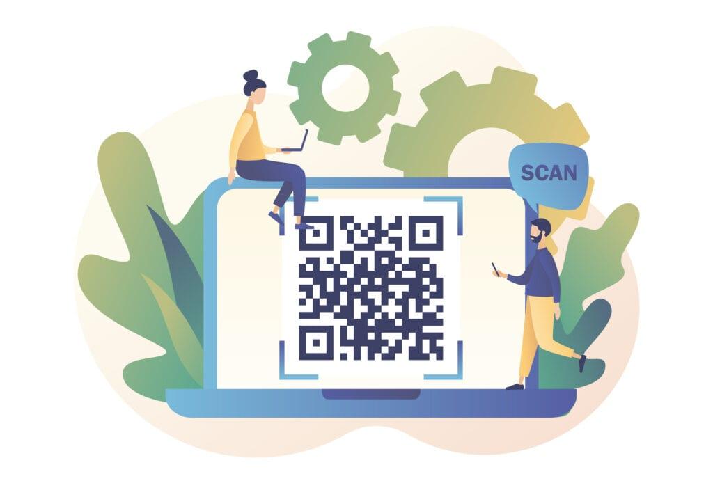 QR Code Scanning Concept